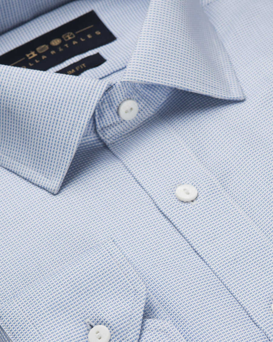 Dress Shirts - Micro Check - Blue
