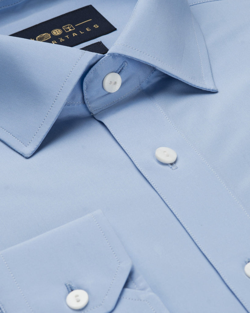 Dress Shirts - Poplin - Blue