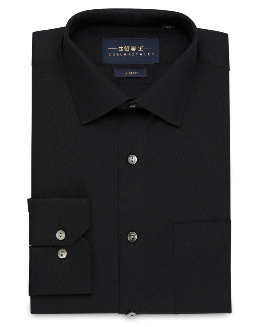 Dress Shirts - Poplin Shirt - Black