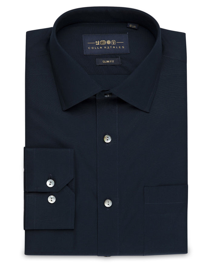 Dress Shirts - Poplin Shirt - Navy