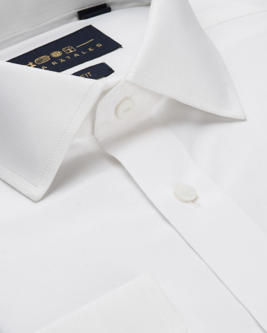 Dress Shirts - Poplin Shirt - White