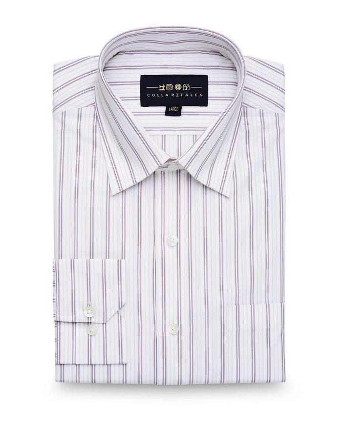 Dress Shirts - Red & Blue Stripe Shirt ( 38 & 40 Only )