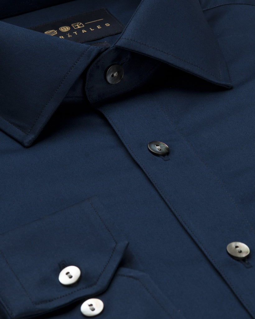 Dress Shirts - Satin - Navy