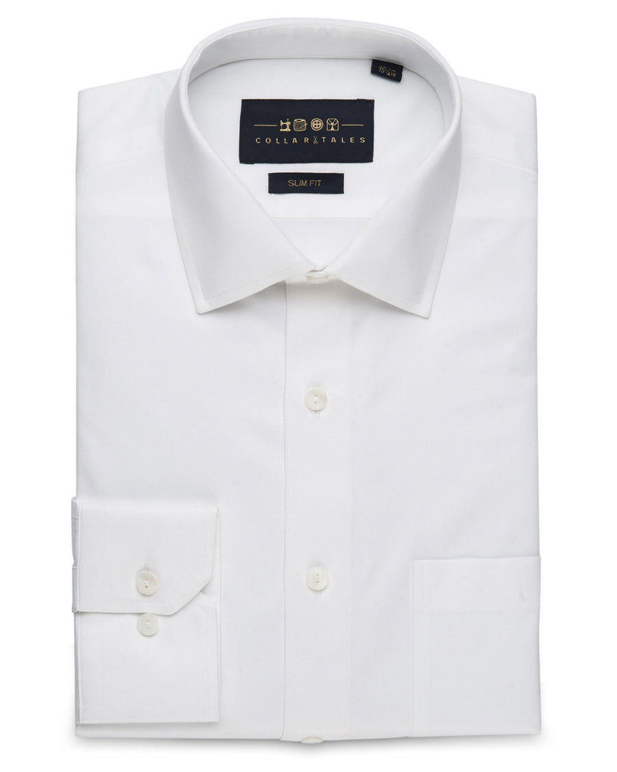 Dress Shirts - Satin - White