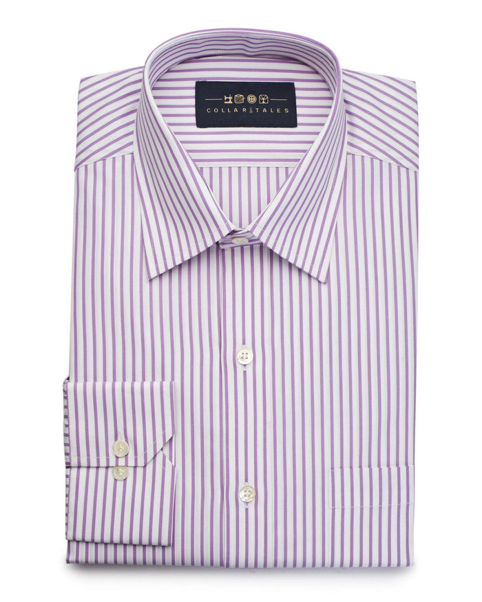 Dress Shirts - Venice Pink Stripe Shirt ( 38 & 42 Only )