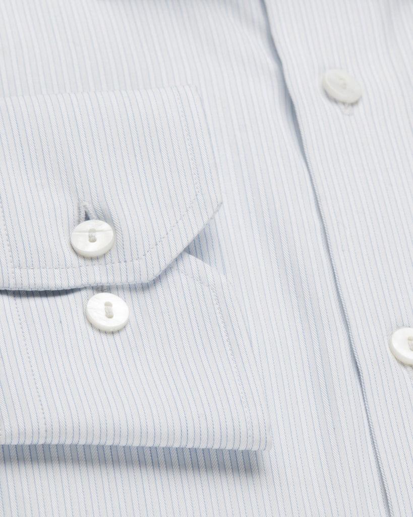 Dress Shirts - White And Blue Pinstripe