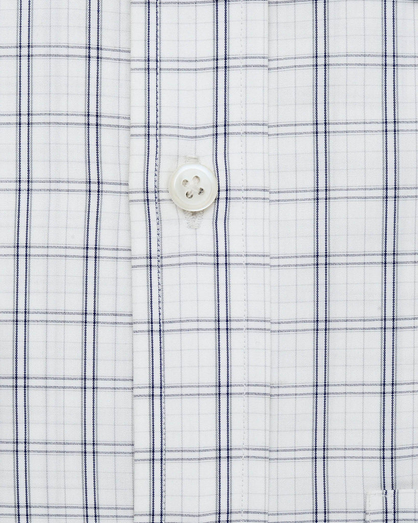 Dress Shirts - White & Blue Check Shirt ( 40 & 42 Only )