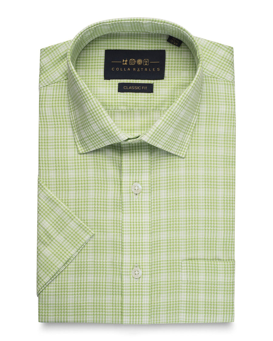 Half Slvees - The Harrisburg Check - Green