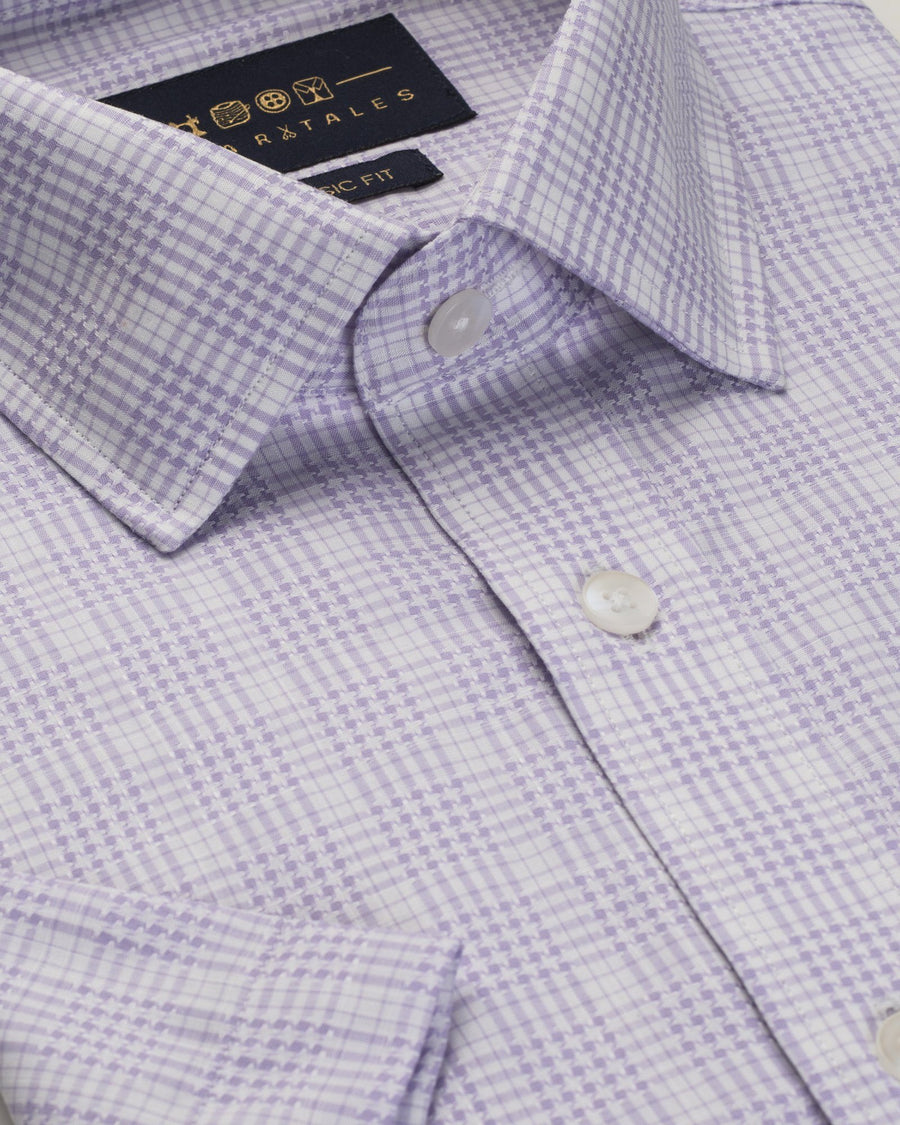 Half Slvees - The Harrisburg Check - Lavender