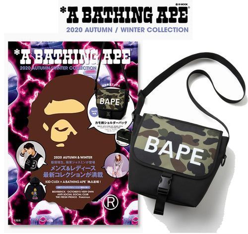 A BATHING APE 2020 AUTUMN / WINTER MAGAZINE MOOK w/ BAPE SHOULDER BAG