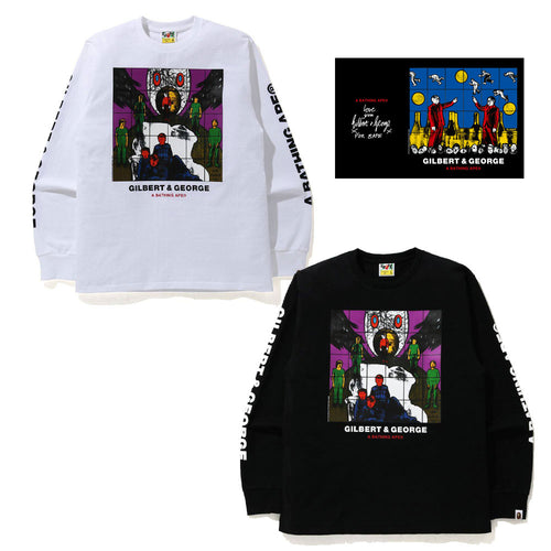 A BATHING APE x GILBERT & GEORGE UP GOD L/S TEE