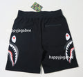 A BATHING APE DOUBLE KNIT SIDE SHARK SWEAT SHORTS - happyjagabee store