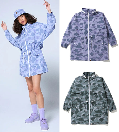 A BATHING APE Ladies' COLOR CAMO LONG JACKET