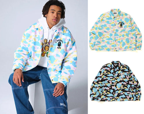 A BATHING APE NEW MULTI CAMO RELAXED COACH JACKET