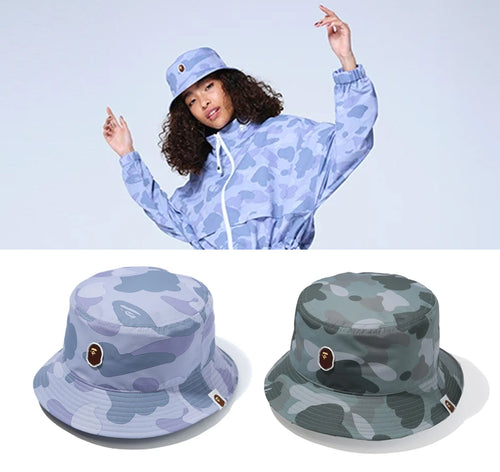 A BATHING APE Ladies' COLOR CAMO BUCKET HAT