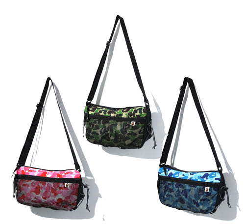 A BATHING APE ABC CAMO BUNGEE CORD SHOULDER BAG
