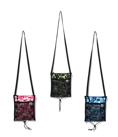 A BATHING APE ABC CAMO BUNGEE CORD POUCH