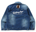 A BATHING APE 1ST CAMO LOOSE FIT HOODIE DENIM JACKET
