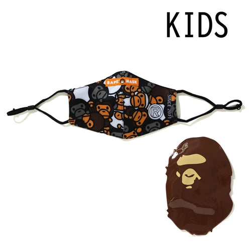 A BATHING APE BAPE KIDS ALL BABY MIO MIX MASK