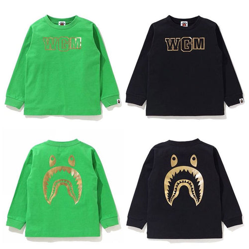 A BATHING APE FOIL WGM SHARK L/S TEE