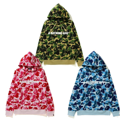 A BATHING APE Ladies' BIG ABC CAMO PULLOVER HOODIE