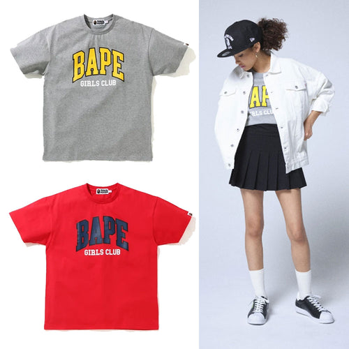 A BATHING APE Ladies' BAPE GIRLS CLUB OVERSIZED TEE