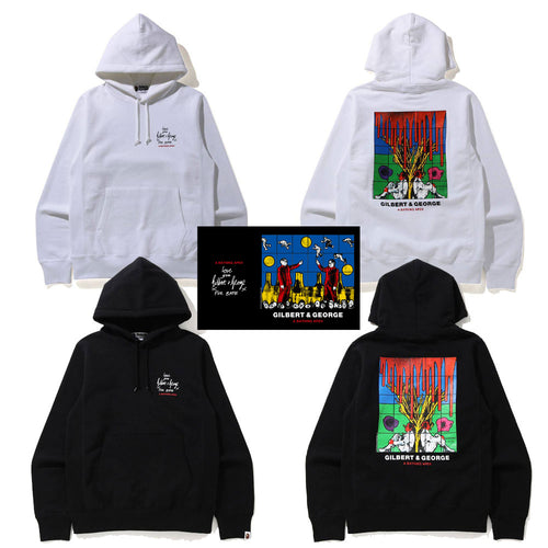 A BATHING APE x GILBERT & GEORGE BLOODED PULLOVER HOODIE