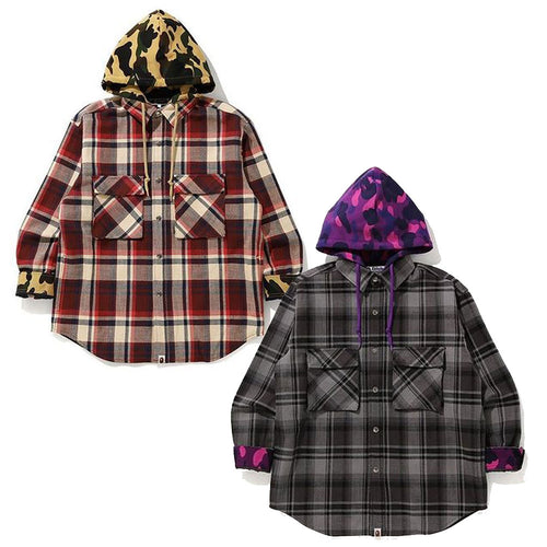 A BATHING APE BAPE CHECK HOODIE JACKET