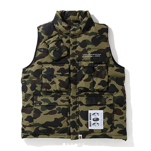 A BATHING APE MULTI POCKET DOWN VEST