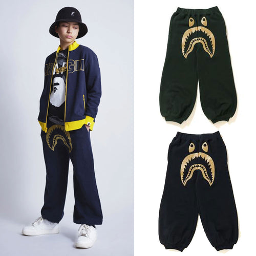 A BATHING APE BAPE KIDS SHARK SWEAT PANTS