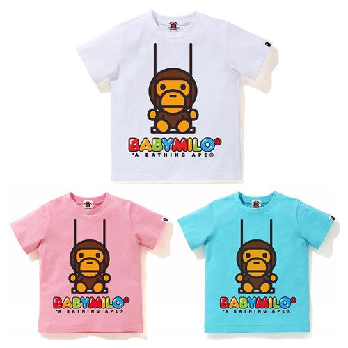 A BATHING APE BAPE KIDS BABY MILO SWING TEE