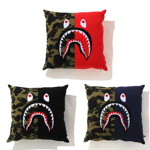A BATHING APE Goods 1ST CAMO SHARK SQUARE CUSHION