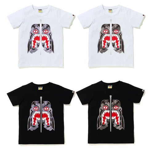 A BATHING APE Ladies' COLOR CAMO TIGER TEE