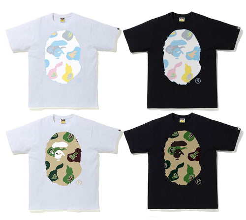 A BATHING APE DEF CAMO BIG APE HEAD TEE