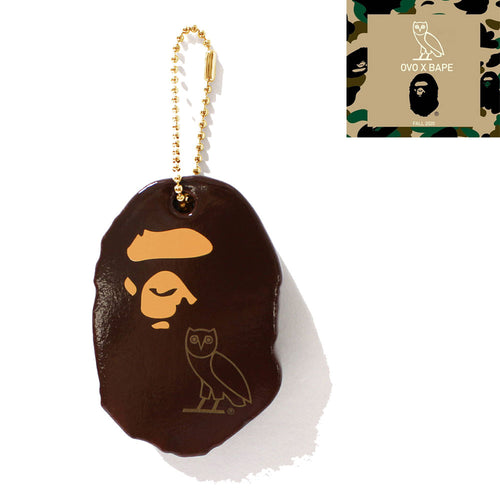 A BATHING APE x OCTOBER'S VERY OWN OVO BAPE KEYCHAIN
