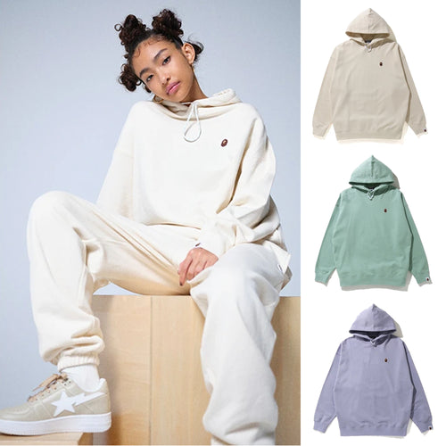 A BATHING APE Ladies' APE HEAD ONE POINT OVERSIZED PULLOVER HOODIE