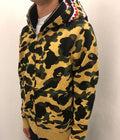 A BATHING APE 1ST CAMO SHARK WIDE FULL ZIP DOUBLE HOODIE - happyjagabee store