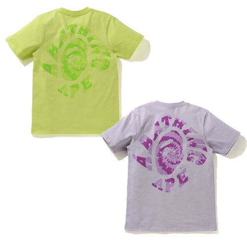 A BATHNIG APE Ladies' PIGMENT TIE DYE TWIST COLLEGE TEE