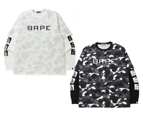 A BATHING APE RELAXED CITY CAMO LAYERED L/S TEE