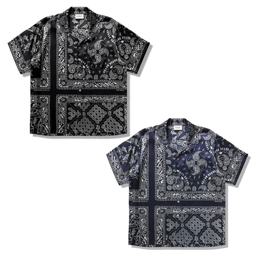 A BATHING APE Men's 【 BAPE BLACK 】BANDANA HAWAII SHIRT