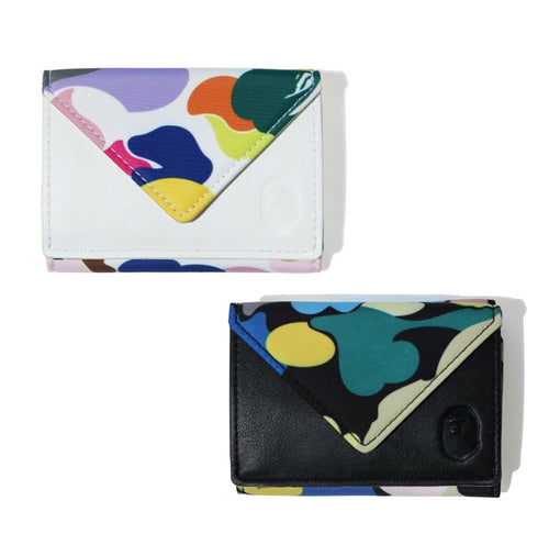 A BATHING APE Ladies' MULTI CAMO MINI WALLET