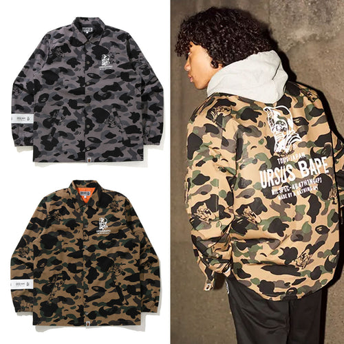 A BATHING APE URSUS CAMO COACH JACKET