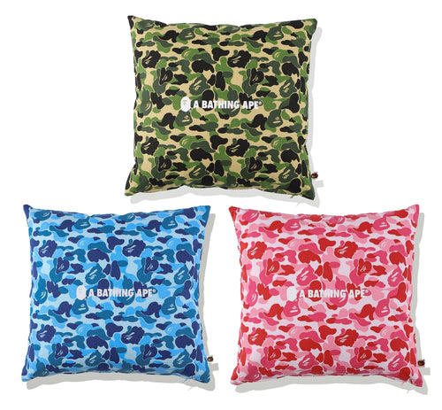 A BATHING APE ABC CAMO A BATHING APE SQUARE CUSHION