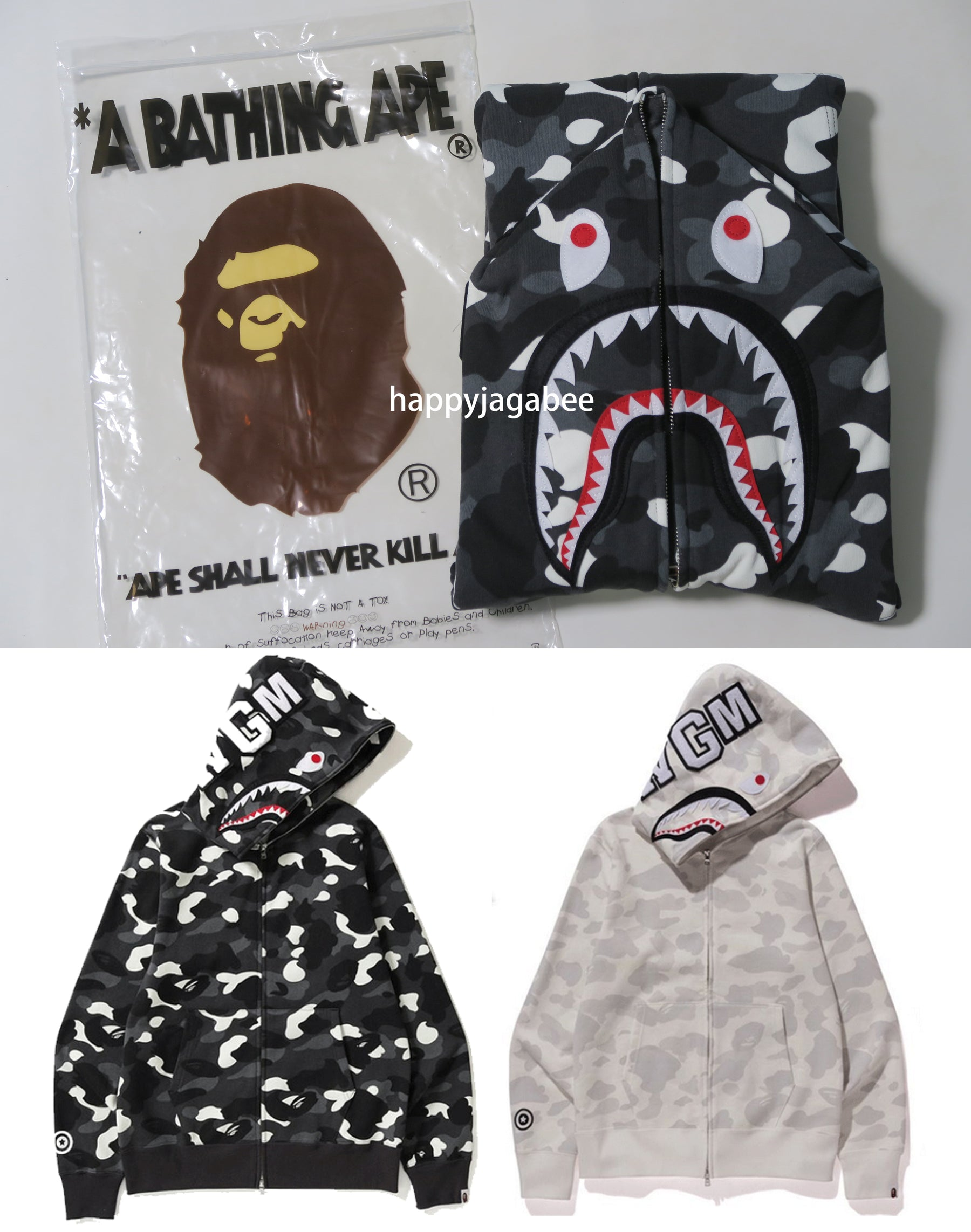 1c15311db06a A BATHING APE CITY CAMO SHARK FULL ZIP HOODIE – happyjagabee store