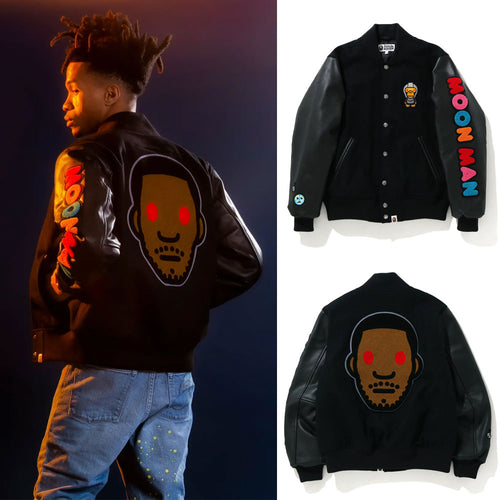 A BATHING APE BAPE x KID CUDI VARSITY JACKET
