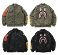 A BATHING APE SHARK LOOSE FIT MA-1 JACKET