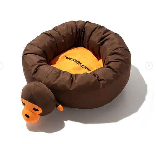 A BATHING APE BABY MILO STORE PLUSH DOLL PET BED Brown - happyjagabee store