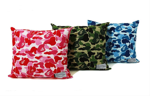 A BATHING APE BAPE x FABRICK ABC CAMO SQUARE CUSHION