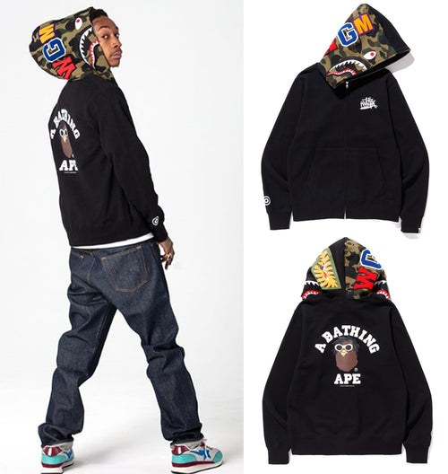 A BATHING APE x WIZ KHALIFA SHARK FULL ZIP HOODIE - happyjagabee store