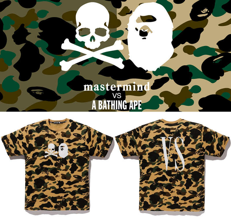 mastermind VS A BATHING APE Men's 1ST CAMO TEE - happyjagabee store